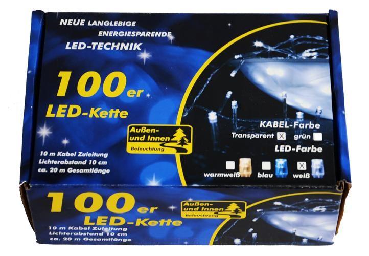 Garth vánoční LED řetěz - 9 m, 100 diod, studeně bílý