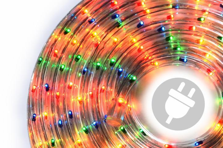 Světelný kabel - 720 minižárovek, 20 m, barevný