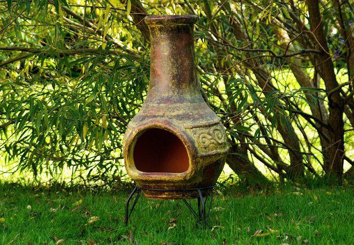TERA Venkovní zahradní  terakotový krb 90 cm