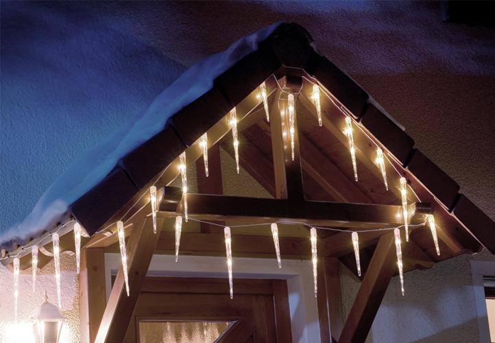 Vánoční osvětlení - rampouchy - studená bílá, 8 světelných funkcí