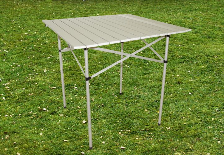 Zahradní hliníkový skládací stůl 70 x 65,5 x 70 cm