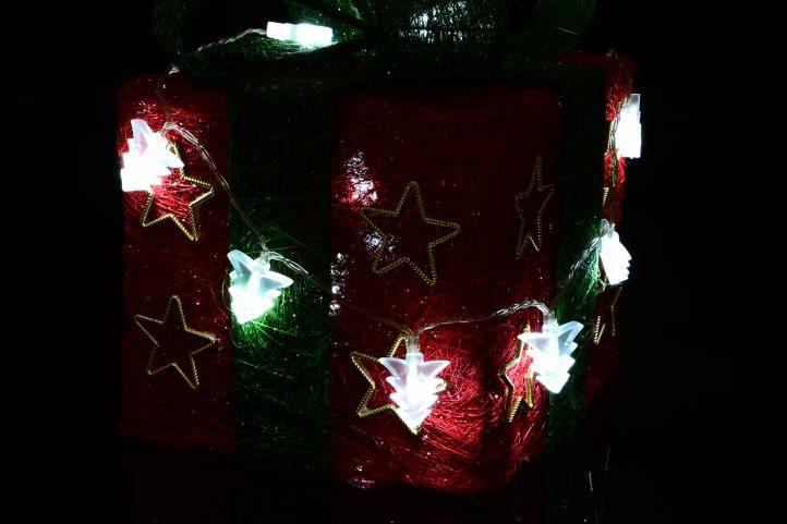 Vánoční osvětlení -  vánoční stromky - studeně bílý