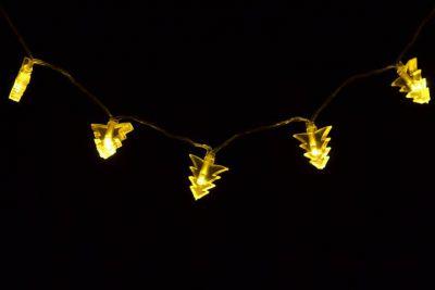 Vánoční osvětlení - vánoční stromky, teple bílé