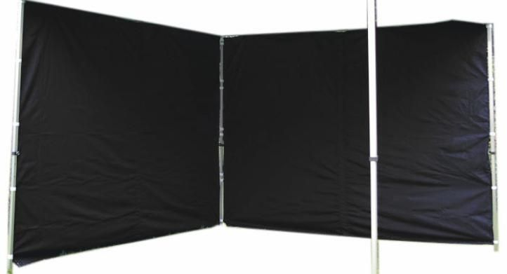 Sada 2 bočních stěn pro PROFI zahradní stan 3 x 3 m – černá