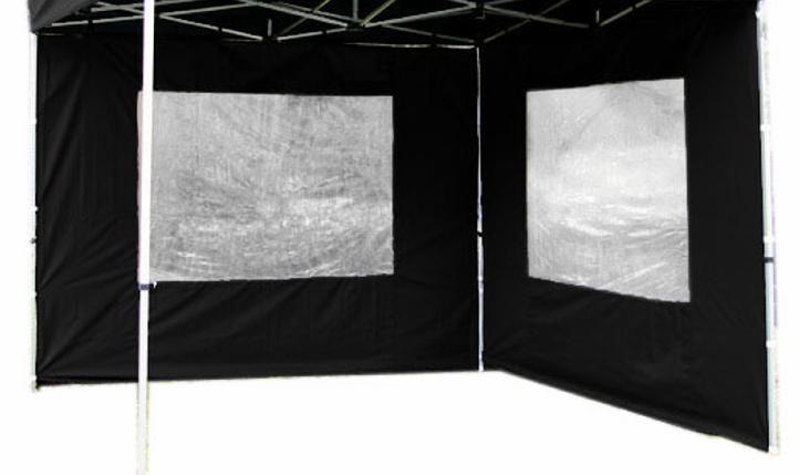 Sada 2 bočních stěn pro PROFI zahradní altán 3 x 3 m – černá