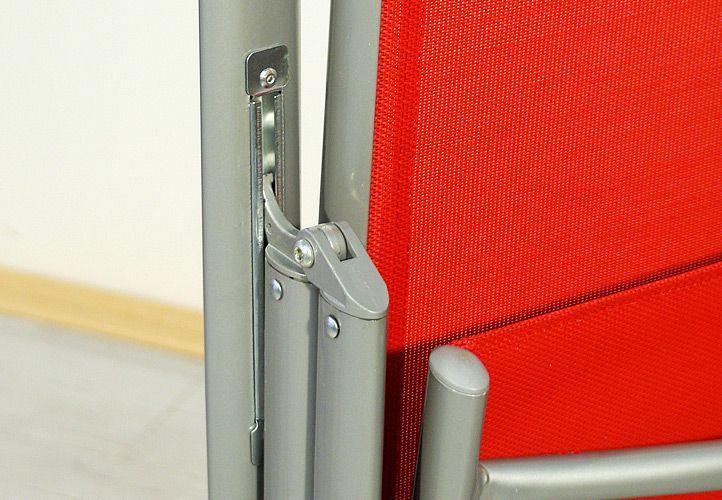 Hliníková skládací židle Garth - červená