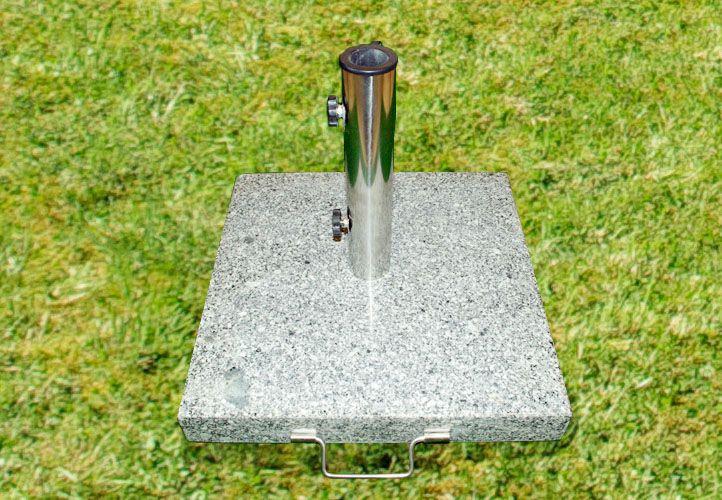 Stojan na slunečník - žula / nerezová ocel, 50 kg