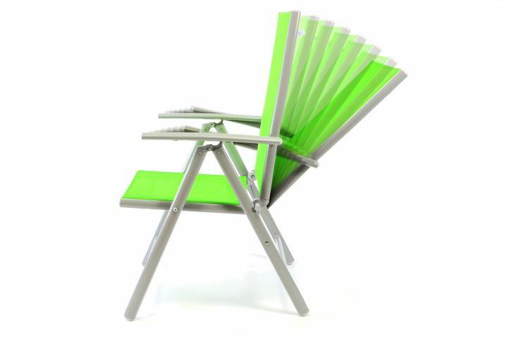 Hliníková skládací židle Gardenay - zelená