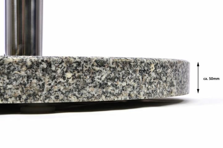 Stojan na slunečník (kruhový) - žula / nerezová ocel, 25kg