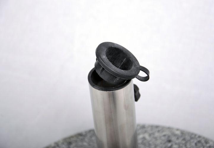 Stojan na slunečník (kruhový) - žula / nerezová ocel, 40 kg
