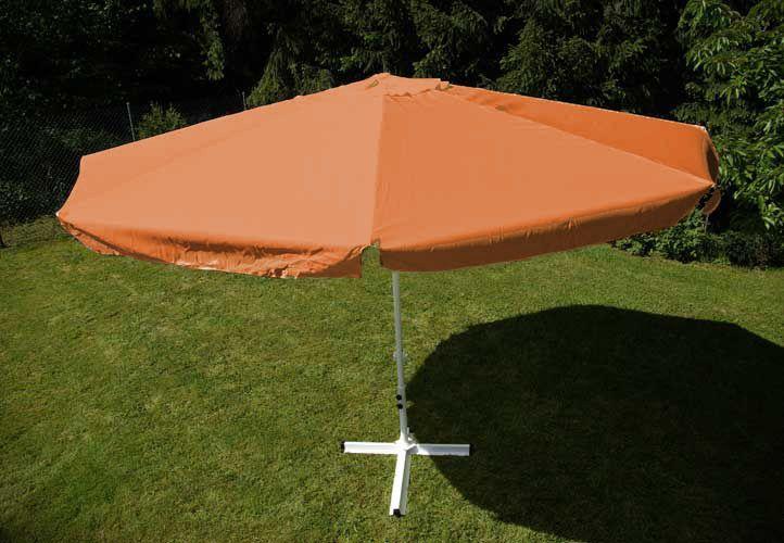 Slunečník Garth s klikou - terakota, 4 m