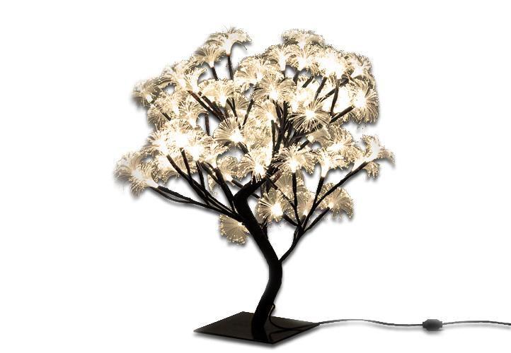 Dekorativní LED osvětlení - strom s květy, teple bílá
