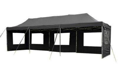 Zahradní skládací párty stan PROFI - černá 3 x 9 m