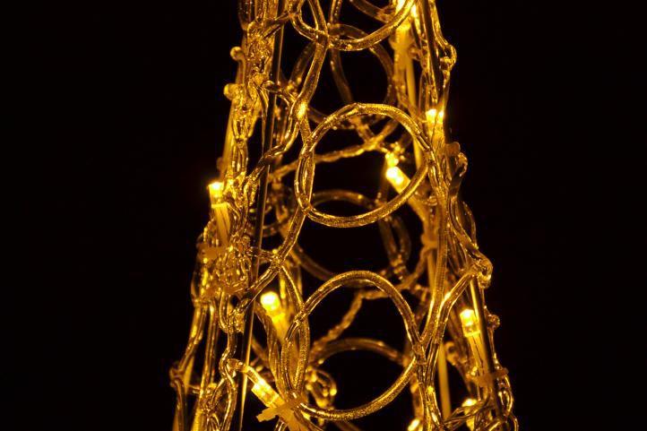 Vánoční dekorace - Akrylový kužel - 40 cm, teple bílé + trafo