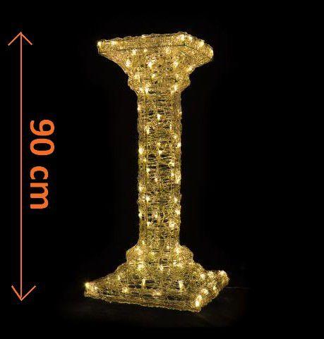 Světelná dekorace - Akrylový antický sloup - 90 cm, teple bílé