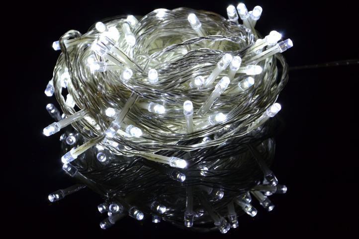 Vánoční LED osvětlení 5 m - studeně bílé, 50 diod