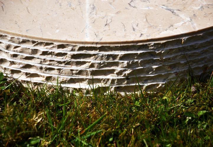Stojan na slunečník z mramoru a ušlechtilé oceli, kulatý, 40 kg