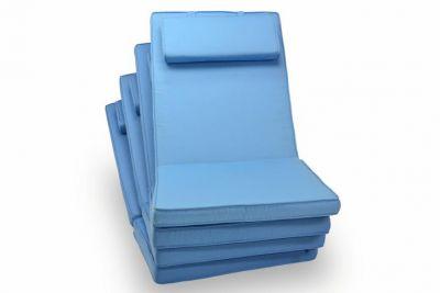 Polstrování ke skládacím židlím, světle modré, 4 ks