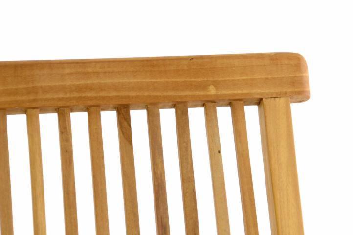 DIVERO skládací židle z týkového dřeva