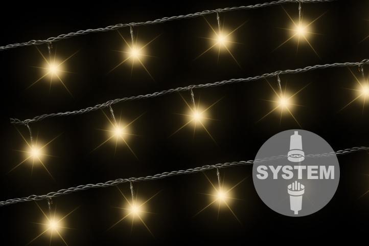 diLED světelný řetěz - 40 LED, teple bílý, bez trafa