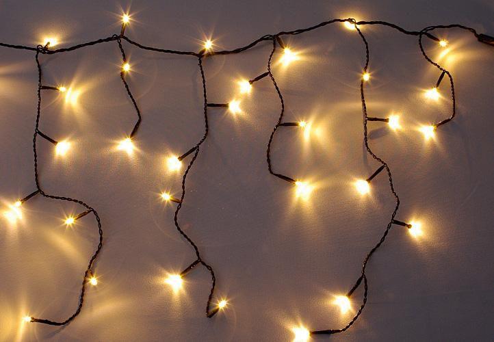 diLED světelný déšť - 80 LED teple bílá