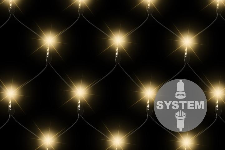 diLED světelná síť – 100 LED, teple bílá