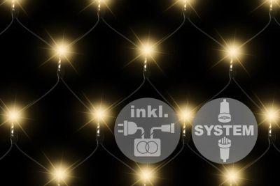 diLED světelná síť - 100 LED teple bílá + napájení