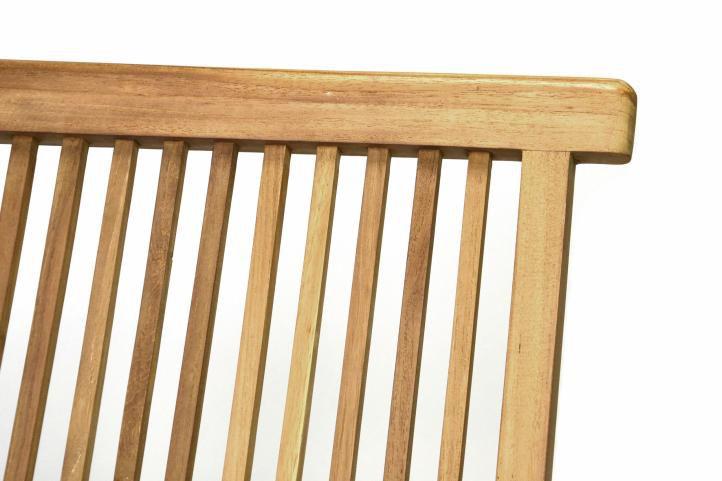 DIVERO skládací židle z týkového dřeva, 2 kusy