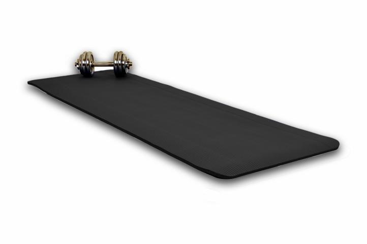 Podložka na jógu 190 x 60 x 1,5 cm - černá