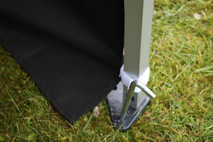 Zahradní párty stan 3x6 černý, nůžkový