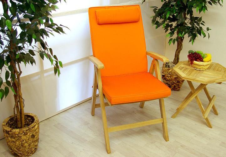4 x kvalitní potah Garth na židli s vysokým opěradlem, oranžový KK-D02283