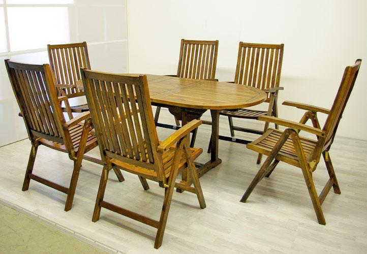 Divero Garth 2284 zahradní nábytek z akátového dřeva 180 x 240 x 75 x 120 cm