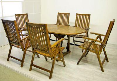 Divero Garth Zahradní nábytek z akátového dřeva 180 x 240 x 75 x 120 cm