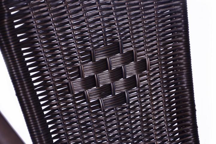Polyratanová zahradní židle Garth - tmavě hnědá