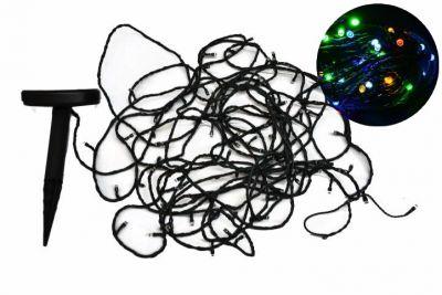 Solární světelný řetěz Garth se 100 LED diodami, barevný