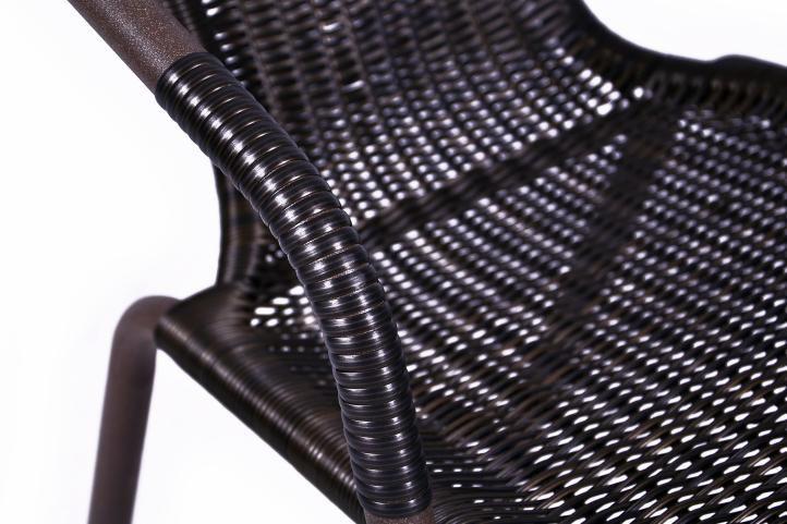 Set 2 ks polyratanová zahradní židle Garth - tmavě hnědá