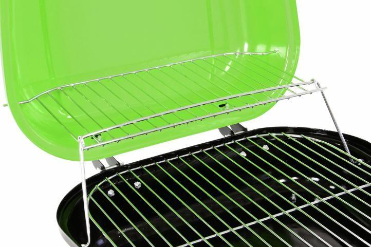 Kufříkový gril na dřevěné uhlí Gart - zelený