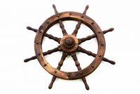 Garthen Dřevěné kormidlo 80 cm - stylová rustikální dekorace