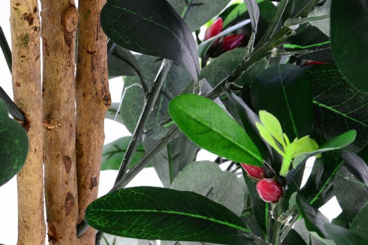 Umělá květina v květináči - kamélie s poupaty - 150 cm