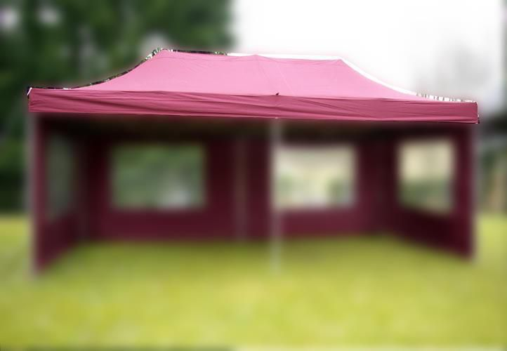 Náhradní střecha k party stanu 3 x 6 m, vínově červená