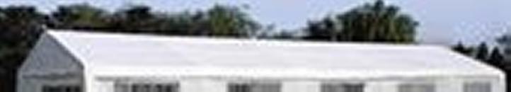 Náhradní střecha k party stanu 5 x 10 m, bílá