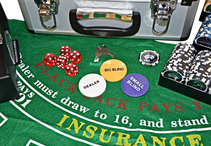 Luxusní pokerový set DELUXE v kufru + příslušenství
