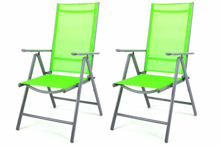 Garthen 27150 Sada 2 hliníkových skládacích židlí - zelená