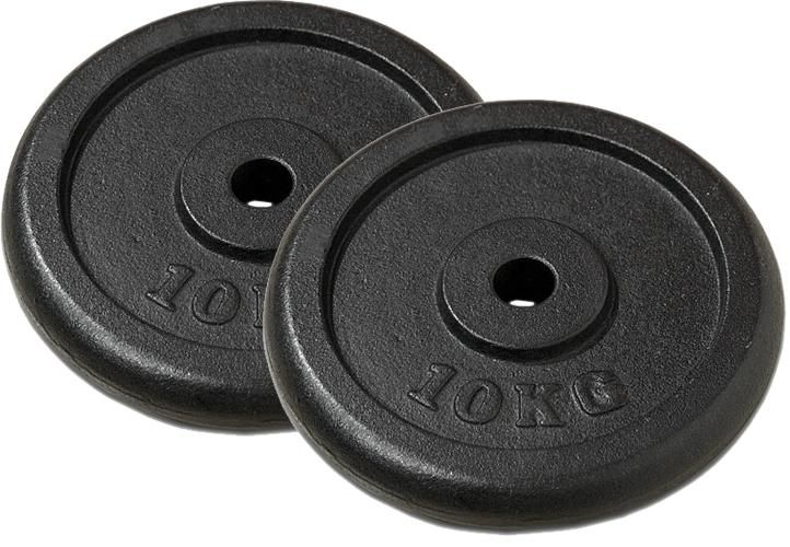 Capital Sports IPB 10 kg Set, sada závaží na činky, 4 x 1,25 kg + 2 x 2,50 kg, 30 mm