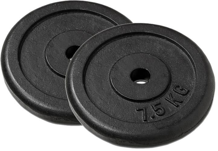 Garthen 27180 Sada 2 závaží na činky 7,5 kg