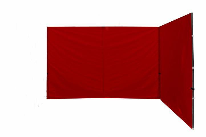 Sada 2 bočních stěn k PROFI nůžkovému stanu – červené