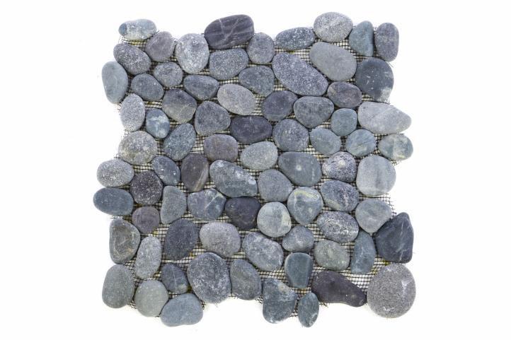 Mozaika Garth říční oblázky – šedá obklady – 1x síťka