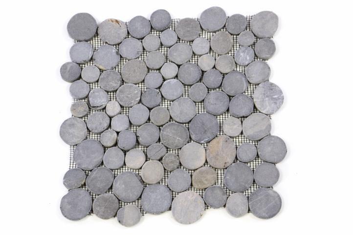 Mozaika Garth z andezitu – šedá obklady – 1x síťka