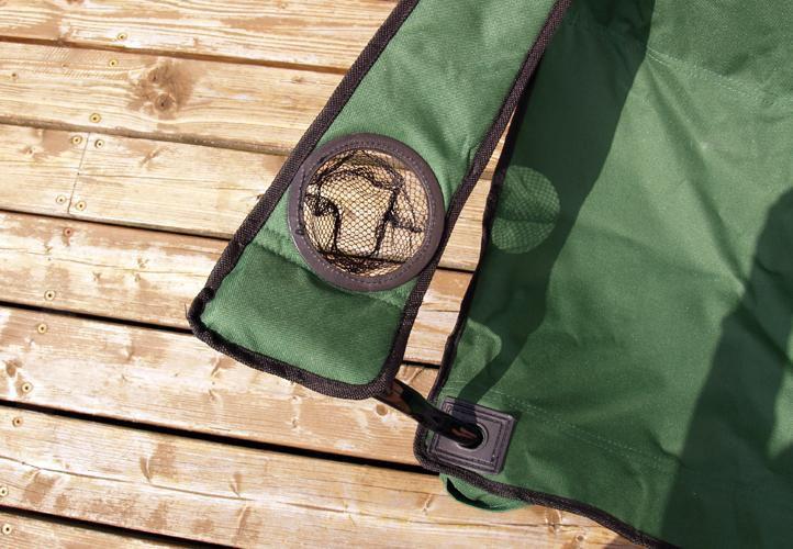 Kempingová sada - 2x skládací židle s držákem - zelená