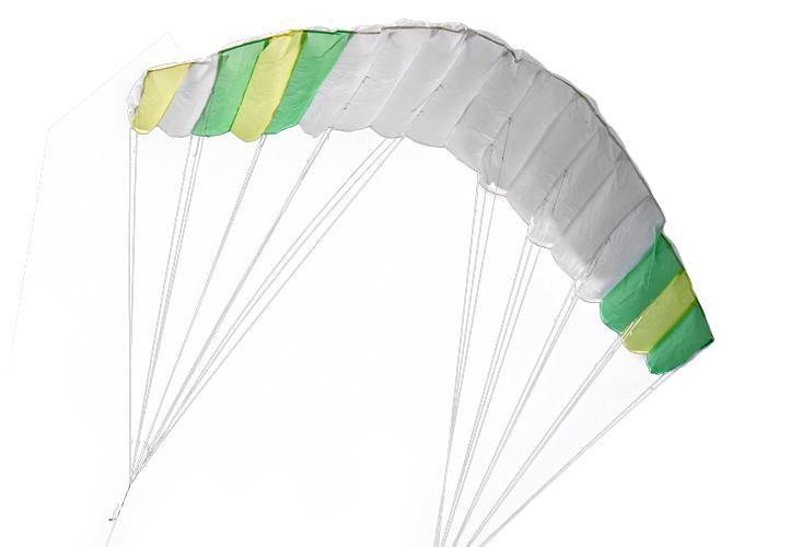 Létající kite 200 x 70 cm zeleno - bílý